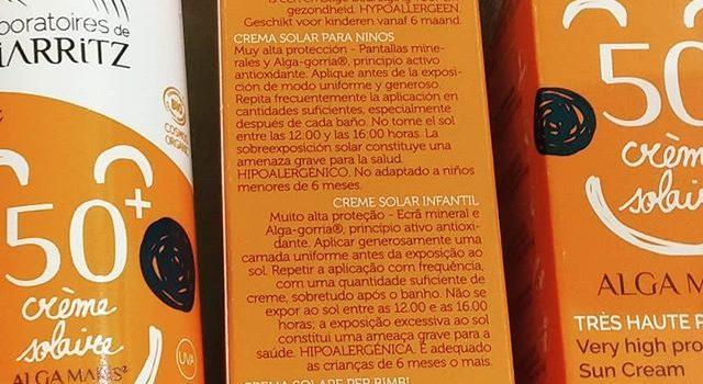 Cuando empieza el sol a calentar mejor protegerse con una #cremasolarbio adecuada @algamarissuomi tiene para nosotros los mejores ingredientes